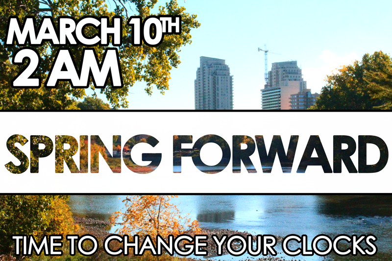 Spring Forward - March 10th, 2013 @ 2 AM